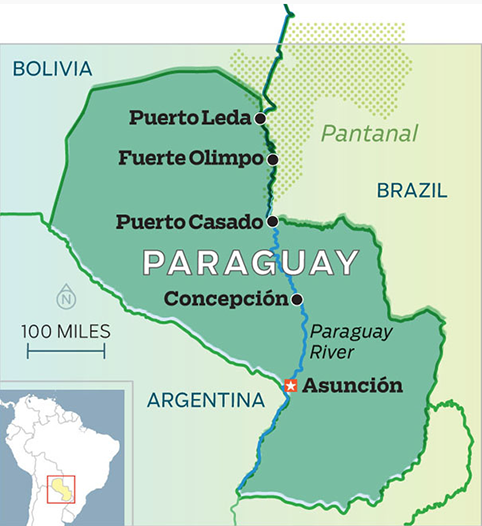 Paraguay-map - The Tragedy of the Six MarysThe Tragedy of the Six Marys
